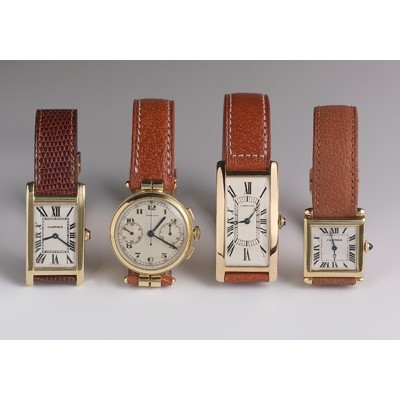 Vintage Cartier gentleman's wrist watches 1925-1940