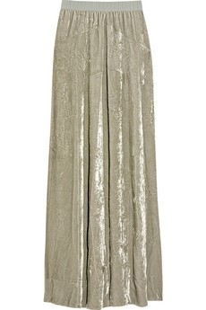 Marc Jacobs Crushed-velvet maxi skirt
