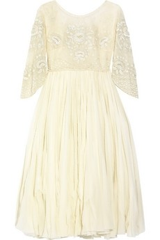 Alexander McQueen embroidered tulle and silk-chiffon dress