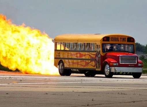 JET-POWERED SCHOOL BUS