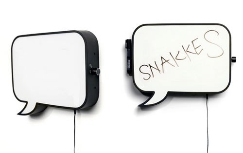 Snakkes Speech Bubble Lamp & Whiteboard