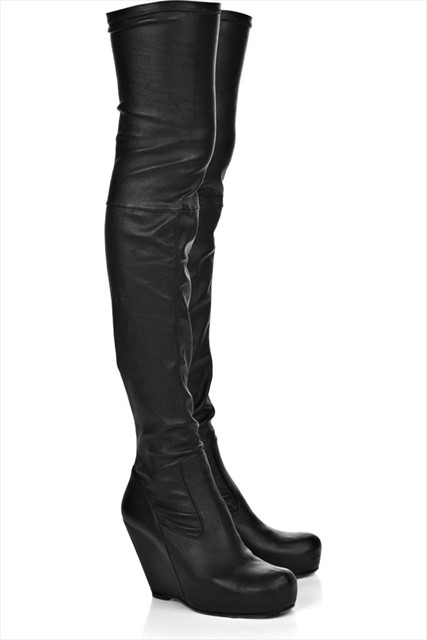 Rick Owens otk leather wedge boots
