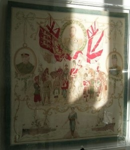 perspex framed flag - Soldiers and sailors of our empire