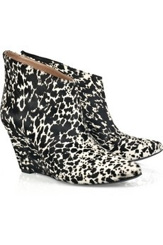 Sigerson Morrison Printed calf hair ankle boots