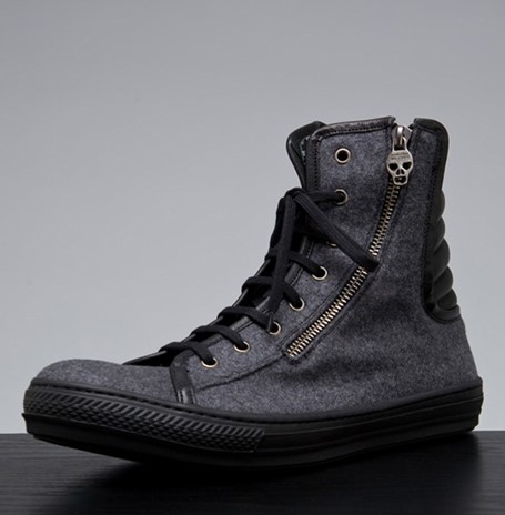 Alexander McQueen High Top in Smoke