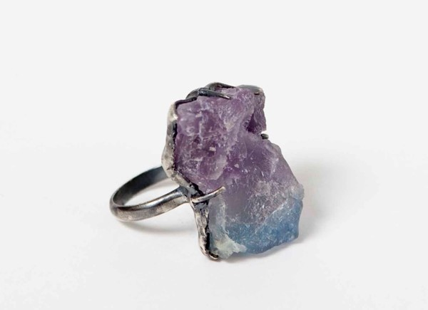 BILLY BRIDE RAINBOW FLUORITE CLAW RING