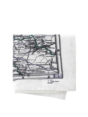 Dunhill printed pocket scarf