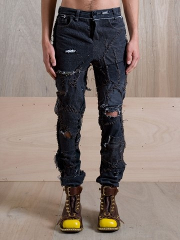 J.W. Anderson Exclusive Deconstructed Jeans