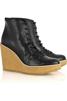 Stella McCartney Faux leather wedge boots
