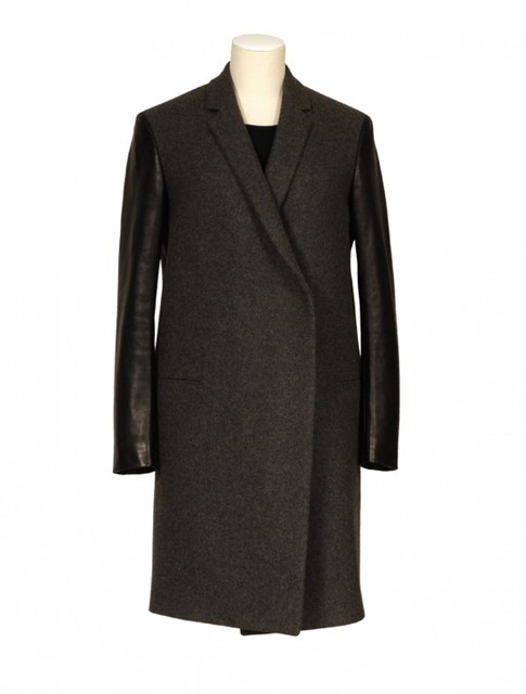 CÉLINE leather sleeves coat
