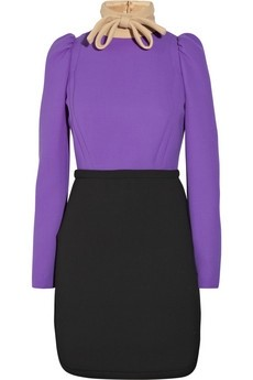 Miu Miu Block-color wool-twill dress