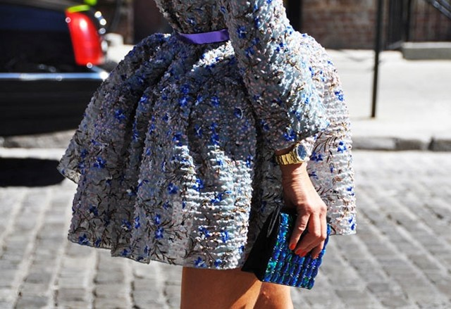 Balenciaga dress on Anna Dello Russo