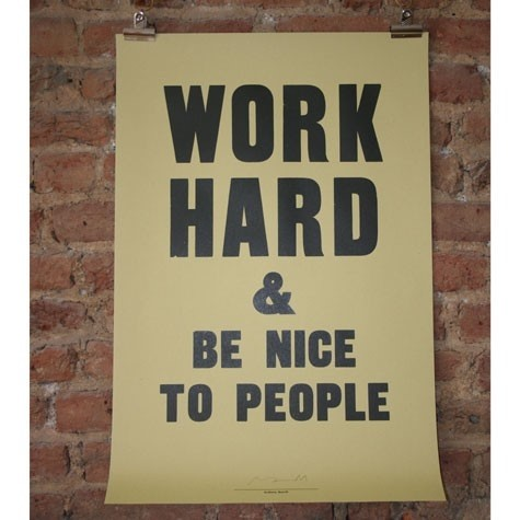 Poster by Anthony Burrill