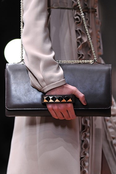 Studded rectangle bags at Valentino.