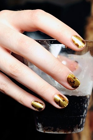 Minx nails at Alexander McQueen S/S11