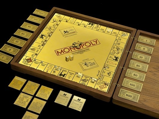Monopoly Board Game Made of Gold, Jewels Heads to Museum of American Finance