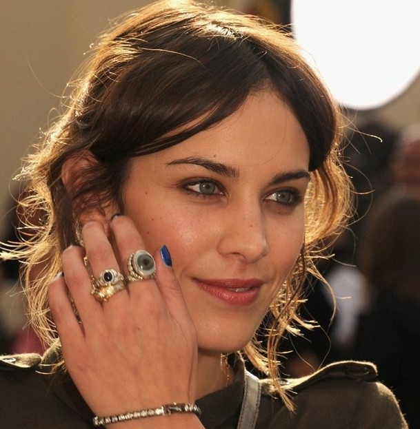 Alexa Chung's glass eye ring