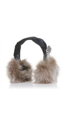 JEWELLED FUR EARMUFFS Lanvin