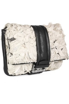 3.1 Phillip Lim Cameron leather and silk flower clutch