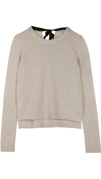 Cashmere Pullover with Ribbon Detail Miu Miu