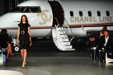 Chanel Private Jet for the Cruise Resort Collection 2008 show at Santa Monica, CA