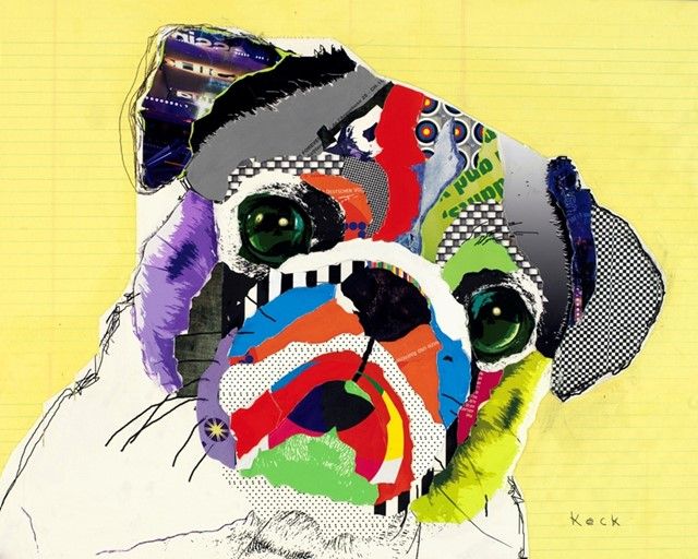 Pug Collage by Michel Keck