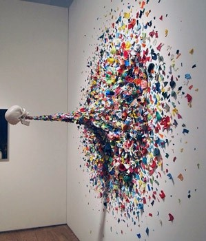 """Confetti Death"" (2010) by TYPOE @ Art Week Miami 2010"