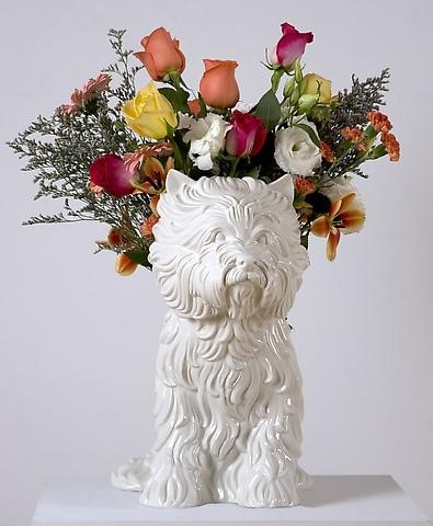 GAGOSIAN POP-UP LONDON - JEFF KOONS - PUPPY 1998 - PORCELAIN VASE