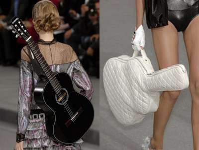 Chanel acoustic guitar and quilted case