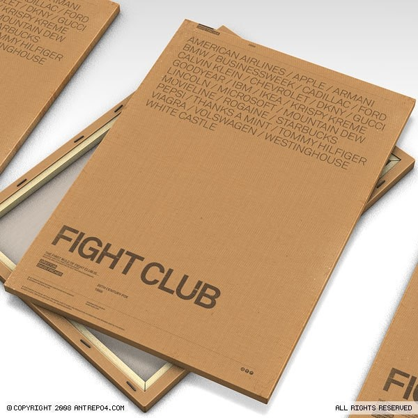Antrepo — Fight Club alternative poster with brands