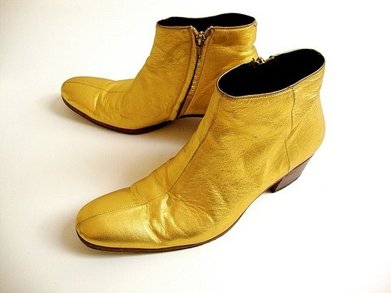 Dior Homme by Hedi Slimane gold boots