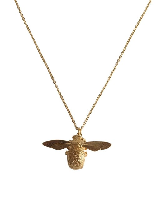 Gold Bumblebee Necklace by Alex Monroe