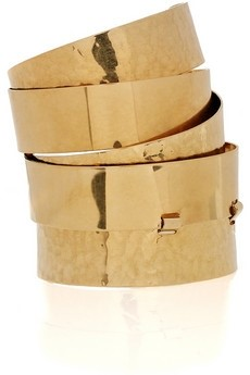 Etro / Hammered gold-plated cuff