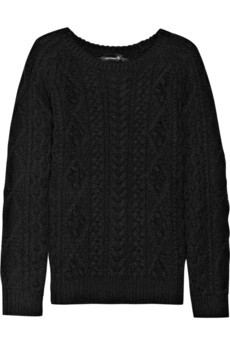 Cable-knit cotton and linen-blend sweater by Isabel Marant