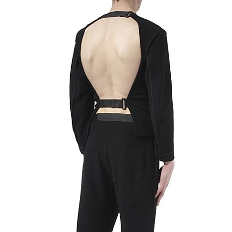 Lee Roach reversible crepe backless top